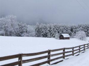 Snow on the Blue Ridge Parkway